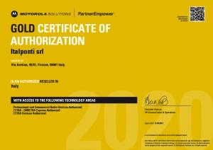 Certificazione Oro Motorola Solutions